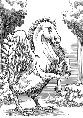 Гиппалектрион. Иллюстрация Ричарда Свенссона
