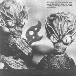 """Инопланетные существа из фильма """"Вторжение людей с летающих тарелок"""" (1957)"""