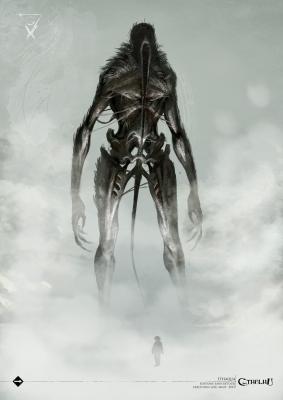 """Вендиго-Итаква. Иллюстрация Люка Мюзи к бестиарию """"Лавкравтовских ужасов"""""""