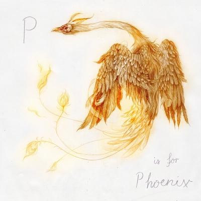 Феникс. Рисунок Яны Хейдерсдорф