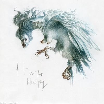 Гарпия. Рисунок Яны Хейдерсдорф