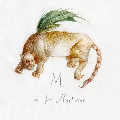 Мантикора. Рисунок Яны Хейдерсдорф