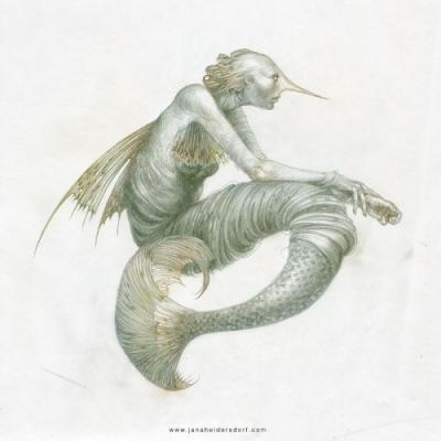 Русалка (Mermaid). Рисунок Яны Хейдерсдорф