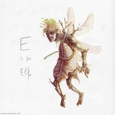 Эльф. Рисунок Яны Хейдерсдорф