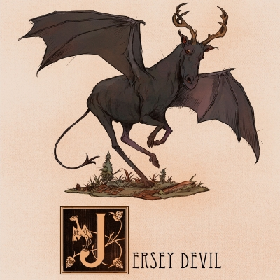 "Джерсийский дьявол. Иллюстрация Натана Андерсона (Nathan J. Anderson, ""Deimos-Remus"")"