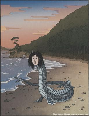Дзиндзя-химэ. Иллюстрация Мэтью Мэйера