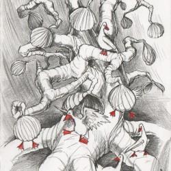 Берникловое дерево. Иллюстрация Ивана Онякова к бестиарию Сапковского