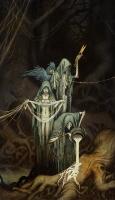 """Норны. Иллюстрация Юхана Эгеркранса из его книги о скандинавской мифологии """"Nordiska gudar"""""""
