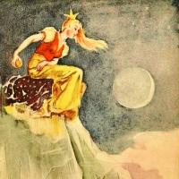 Принцесса с хрустальной горы (Jomfruen på glassberget). Иллюстрация к норвежской сказке