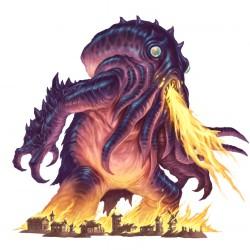 """Кайдзю. Иллюстрация Дэйва Олсопа к сеттингу """"Pathfinder"""""""