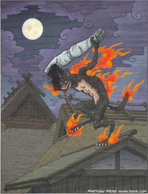 """Каси. Иллюстрация Мэтью Мэйера к книге """"Ночной парад сотни демонов"""""""