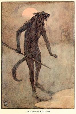 """Кончина Кини Гера. Иллюстрация Элис Вудвард к книге Уильяма Рамсея Смита """"Мифы и легенды австралийских аборигенов"""" (1932)"""