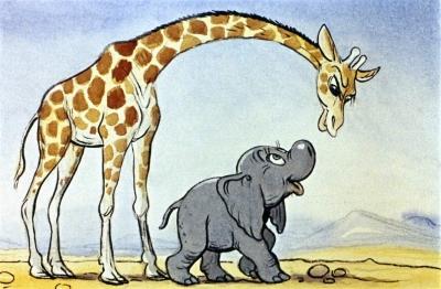 Слоненок. Иллюстрация В.Сутеева к сказке Р.Киплинга