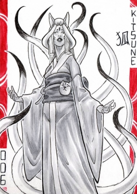 Кицунэ. Иллюстрация Лукаса Перейры