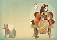 Кицунэ. Иллюстрация Марги Биацци