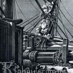 """Клабаутерман. Иллюстрация из книги адмирала Л. фон Хенке """"В море"""" (1885)"""