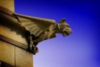 Горгулья-страж на кладбище Окланд в Атланте (США)