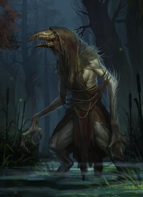 Кикимора болотная. Иллюстрация Klaher Baklaher