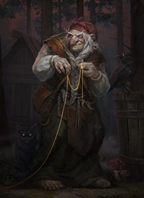 Баба Яга. Иллюстрация Klaher Baklaher