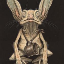 """Пещерный нокер. Иллюстрация Тони Ди Терлицци к """"Полевому руководству Артура Спайдервика"""""""