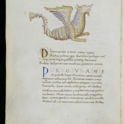 Созвездие козерога в средневековом манускрипте