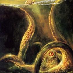 Кракен. Картина Боба Эгглтона