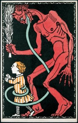 Открытка с изображением Крампуса, 1907 год