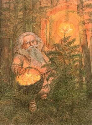 Купальский дедок. Иллюстрация Валерия Славука