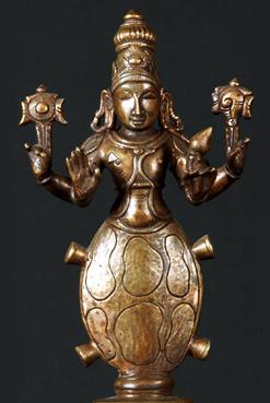 Бронзова статуэтка черепахообразной аватары Вишну (Курма)
