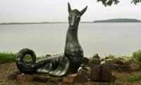 Лепельский цмок. Скульптура в городском парке