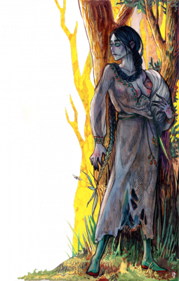 Лесавка. Иллюстрация Лидии Магоновой (Ink-Yami)