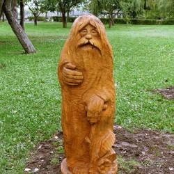 Леший. Деревянная фигура в Гомеле, возле Пушкинского домика