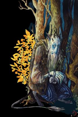 Леший. Иллюстрация Лидии Магоновой (Ink-Yami)