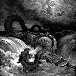 """""""Бог убивает Левиафана"""", гравюра Г.Доре"""