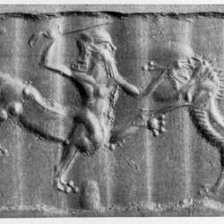 Урмалуллу на оттиске с цилиндрической ассирийской печати
