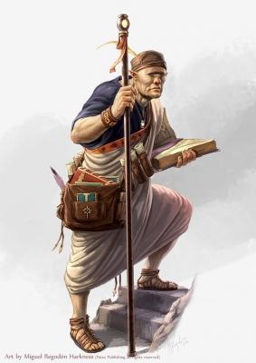 Циклопий хранитель знаний. Иллюстрация Мигеля Регодона Харкнесса (Miguel Regodón Harkness) к сеттингу Pathfinder