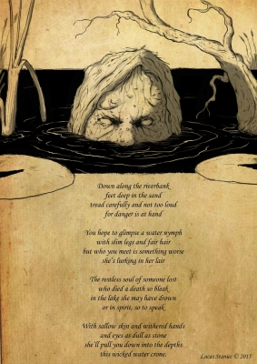 Водная баба (Baba wodna). Рисунок Лукаша Станеца