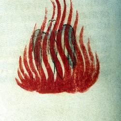 Феникс (Рукопись Моргановской библиотеки Manuscript. M.459, fol.23v)