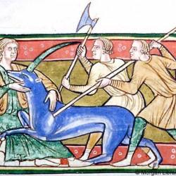 Дева и единорог (Рукопись Моргановской библиотеки в Нью-Йорке Manuscript. M.81, fol. 12v.)