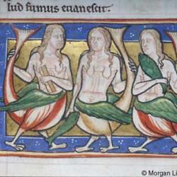 Три сирены (Рукопись Моргановской библиотеки в Нью-Йорке Manuscript. M.81, fol. 17r.)