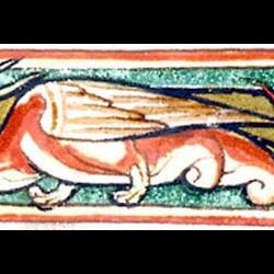 Сирена-змея (Рукопись Моргановской библиотеки в Нью-Йорке Manuscript. M.81, fol.60v.)
