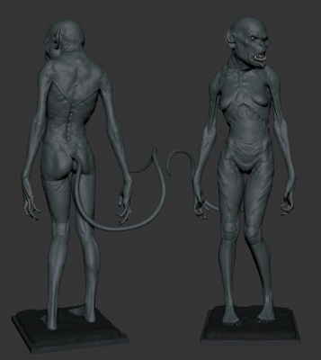 Суккуб. 3D-моделинг от Маартэна Фархуфена (Maarten Verhoeven)
