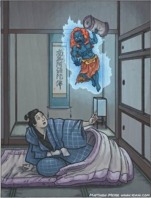 Макура-гаэси. Иллюстрация Мэтью Мэйера
