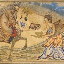 Ночное переселение Мухаммеда из Мекки в Иерусалим (исламская миниатюра)