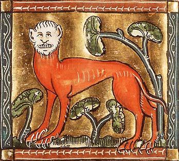 Мантикора. Иллюстрация из фландрской рукописи, около 1350 года.
