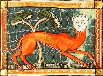 Марикоморион. Иллюстрация из фландрской рукописи, около 1350 года