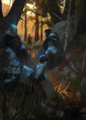 Блуждащие огоньки. Иллюстрация Максима Козлова