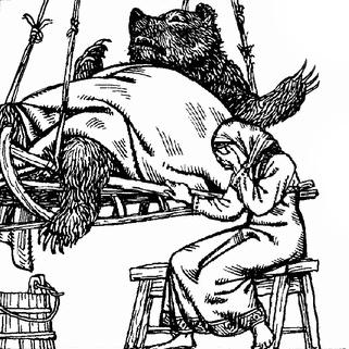 Родители богатыря Медведко. Иллюстрация Виктора Бритвина