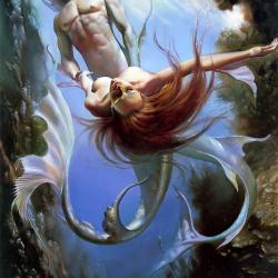 Mermaid. Картина Бориса Валледжо (1981)
