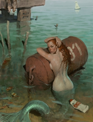 Русалка. Иллюстрация Вальдемара Казака